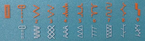 Строчки швейной машины Husqvarna Emerald 118