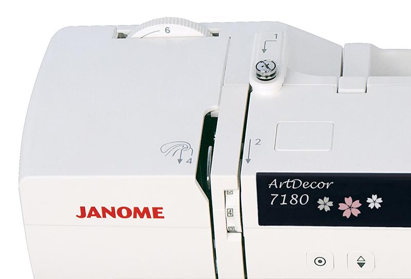 Особенности Janome ArtDecor 7180